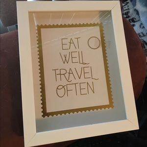 Eat Well Travel Often Wall Decor Frame Art